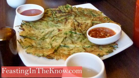 Korean pancake with garlic chives