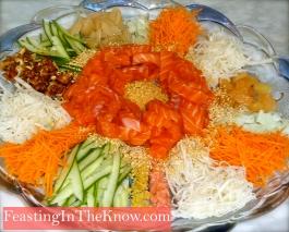 Lucky raw fish salad