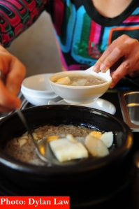 Naeng myeon (chilled noodles)