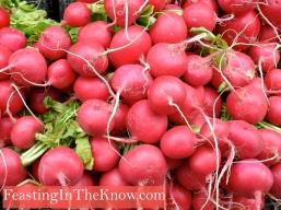 Blushing radishes
