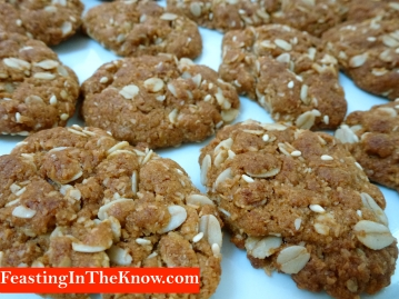Anzac biscuits with sesame seeds