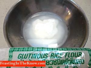 Glutinous rice flour + water