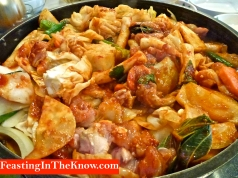 Dak galbi being cooked