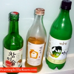 Selection of Korean grog.