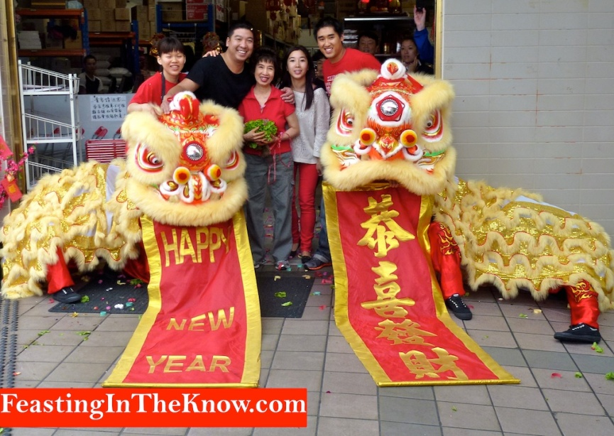 Chinese lion dancers - happy pic