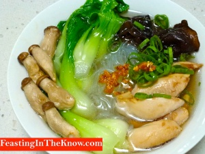 Duck broth noodles