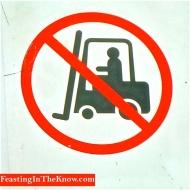 No forklifts sign, Flemington Market