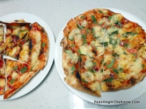 Kids' pizza - Lebanese bread grilled with cheese, fresh basil & tomato sauce.