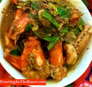 Tiger prawns in Taiwanese barbecue sauce