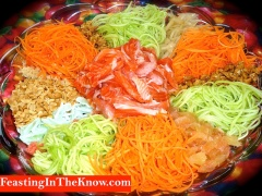 Yu Sheng lucky raw fish salad