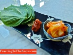 How to eat Korean leaf wrap ssam