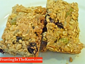 Muesli slice with tahini 2