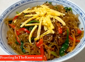 Japchae Korean sweet potato noodles