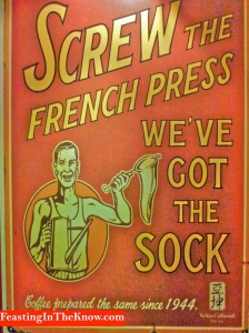 Sock coffee sign