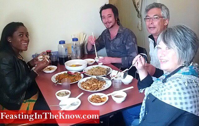 Guests savouring Malaysian noodles