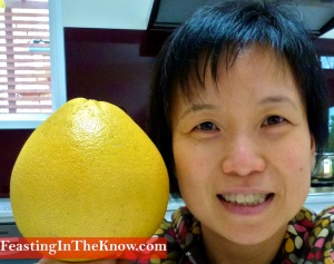 My pomelo and my head