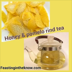 Honey and pomelo rind tea