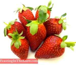 strawberries fruit market produce
