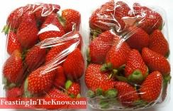 strawberries in punnets fruit market produce