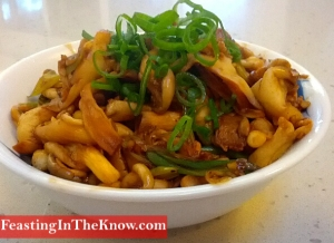 cooked oyster mushrooms produce food market savoury