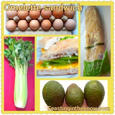 omelette sandwich on turkish bread food savoury