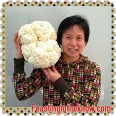 head to head with a giant cauliflower