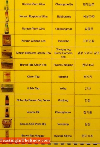 Koreanfoodstuffsenglishtranslationkco
